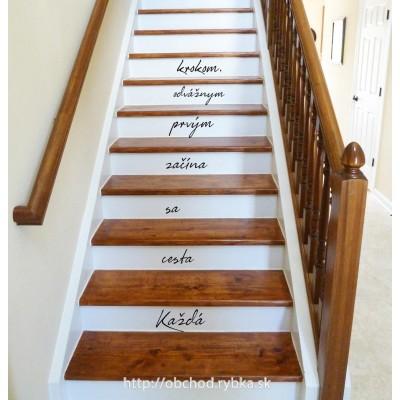 Nálepka na schody Odvážny prvý krok