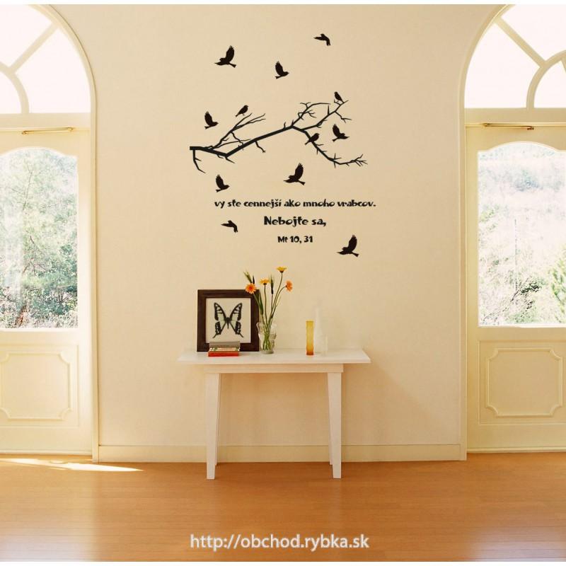 Nálepka na stenu Cennejší ako vrabce