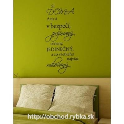 Nálepka na stenu Prijímaný a milovaný