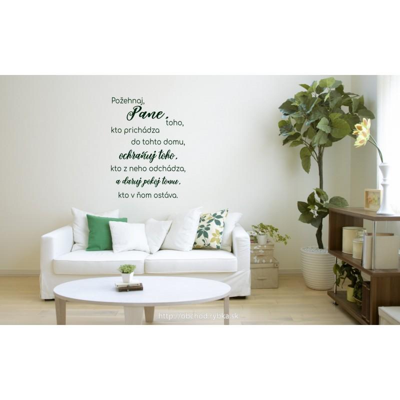 Nálepka na stenu Požehnanie ľudí v dome
