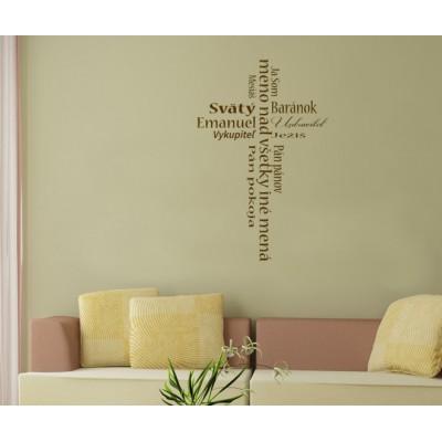 Nálepka na stenu Ježišove mená